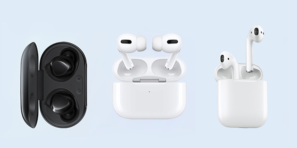 Сравнение характеристик AirPods Pro / Galaxy Buds+ / AirPods 2
