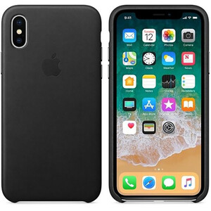 Купить Кожаный чехол iLoungeMax Leather Case Black для iPhone X | XS OEM (MRWM2)