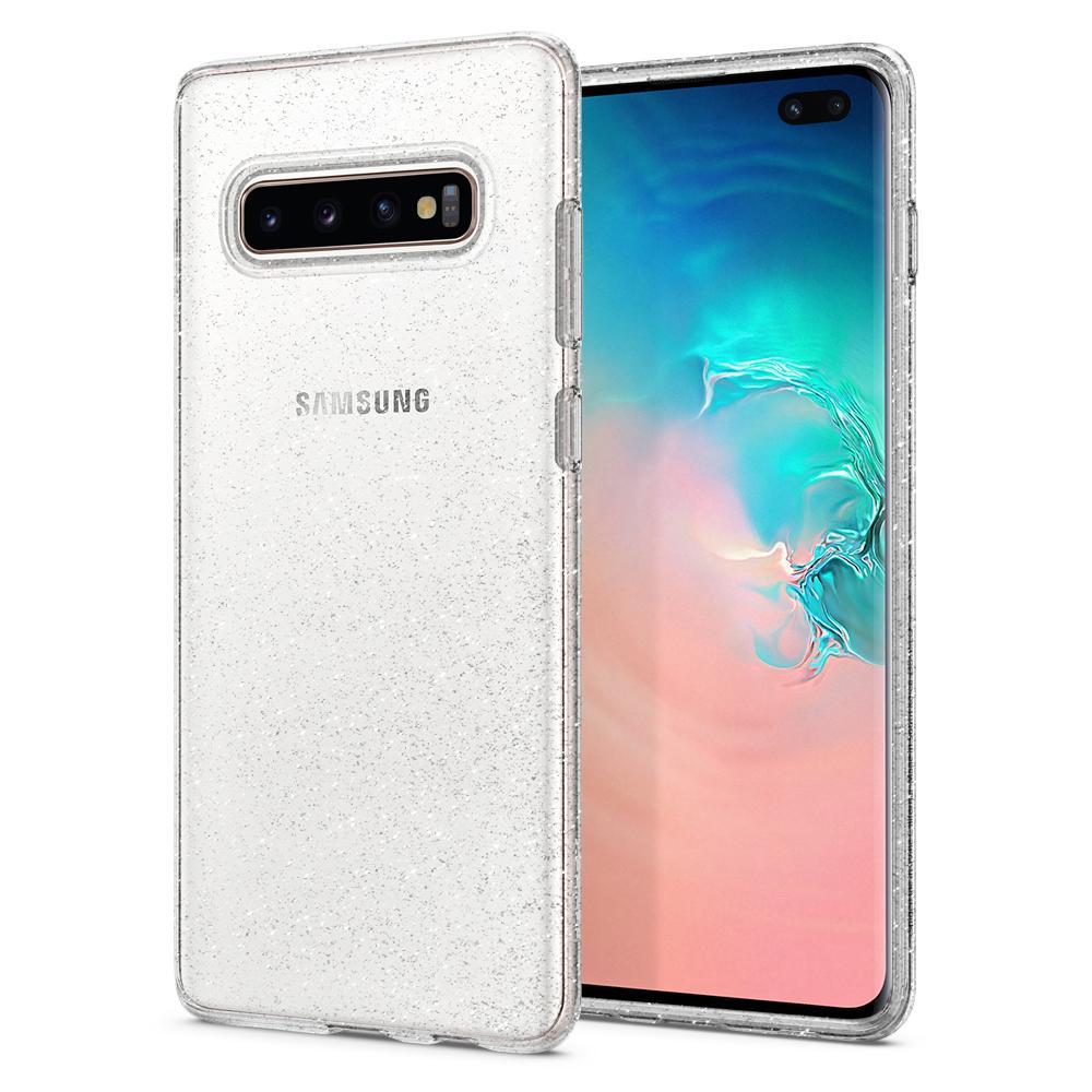 Купить Чехол Spigen Liquid Crystal Glitter Crystal Quartz для Samsung Galaxy S10 Plus