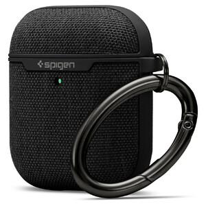 Купить Тканевый чехол с карабином Spigen Urban Fit Black для AirPods