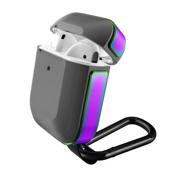 Противоударный чехол с карабином X-Doria Defense Trek Bright Violet для Apple AirPods