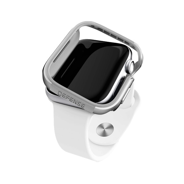 Противоударный чехол X-Doria Defense Edge Silver для Apple Watch 40mm SE   6   5   4