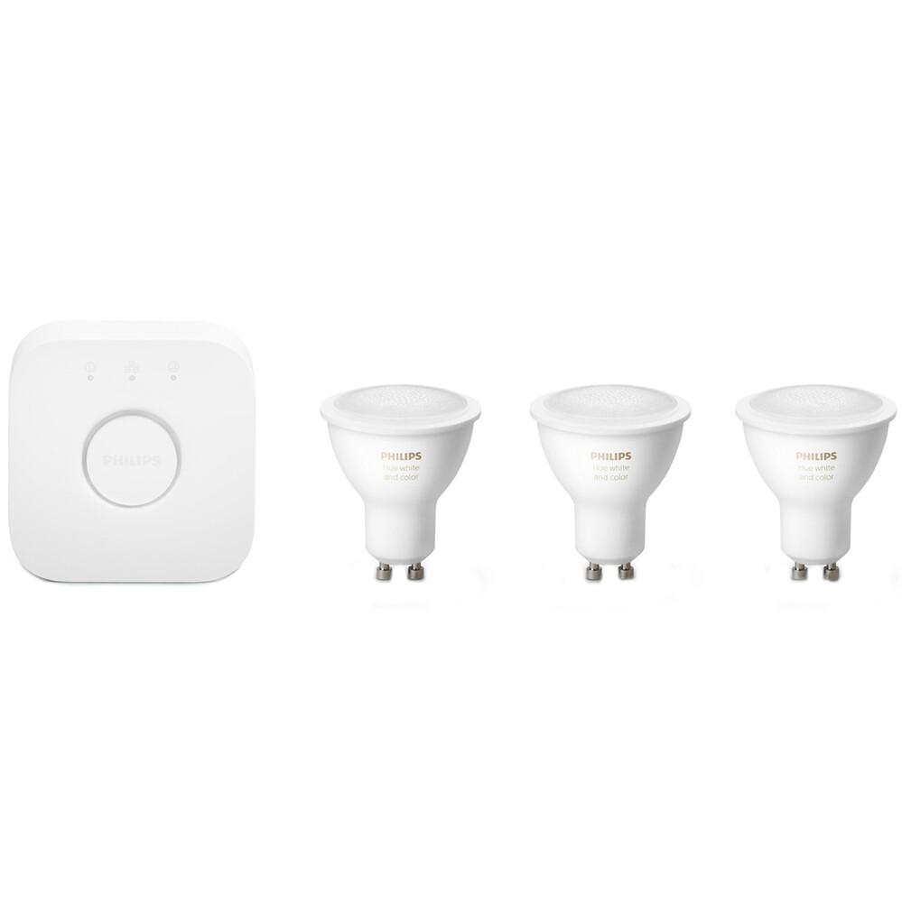 Купить Умные светодиодные лампочки Philips Hue Gu10 White And Color Ambiance Apple HomeKit (3 шт+хаб)