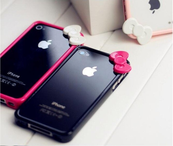 Чехол с бантиком Fashion Bowknot для iPhone 4/4S