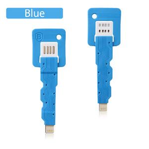 Купить Голубой брелок-кабель Baseus Key Lightning