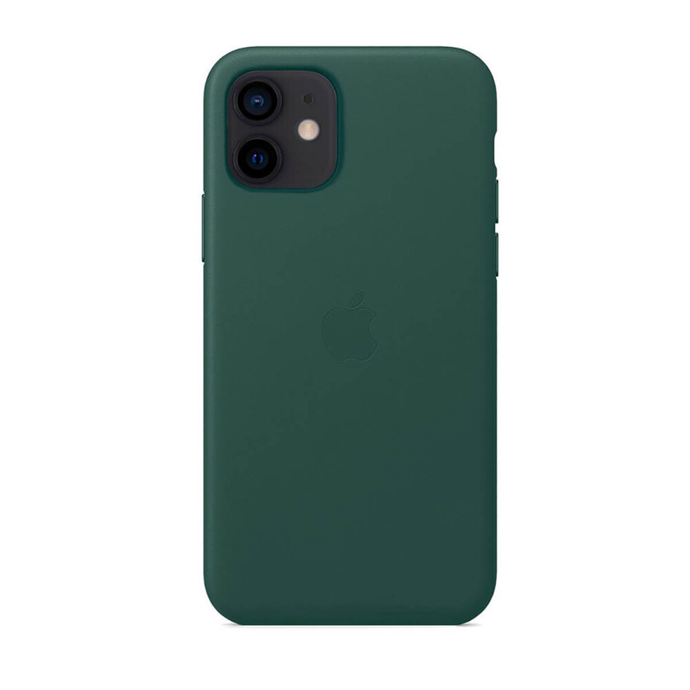 Кожаный чехол iLoungeMax Genuine Leather Case MagSafe Pine Green для iPhone 12 mini ОЕМ