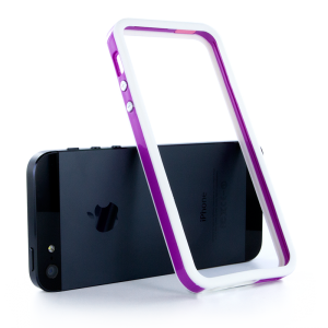 Купить Двухцветный бело-фиолетовый бампер для iPhone 5/5S/SE