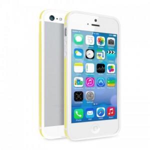 Купить Двухцветный бело-желтый бампер для iPhone 5/5S/SE
