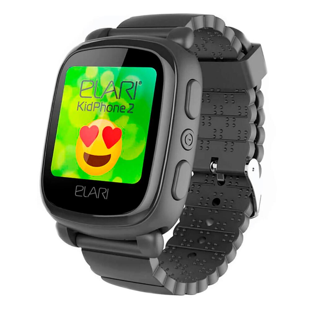 Купить Детские смарт-часы Elari KidPhone 2 Black с GPS-трекером