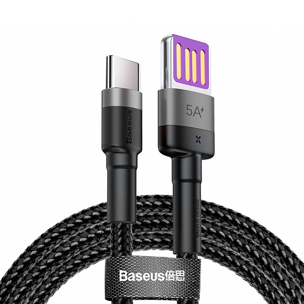 Купить Зарядный кабель Baseus Cafule HW USB to USB-C  Gray | Black (1м)