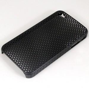 """Купить Черный прорезиненный чехол """"Сеточка"""" для iPhone 4"""