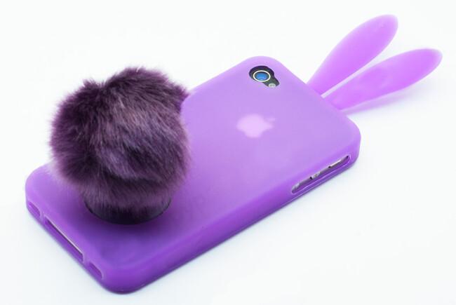 """Чехол """"Кролик"""" для iPhone 4/4S"""