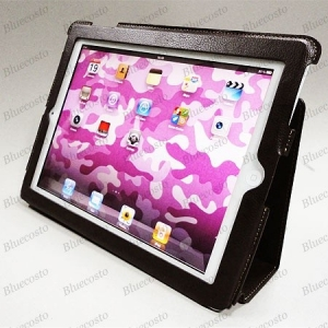 Коричневый кожаный чехол ENGLAND для iPad 2