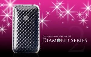 Прозрачный силиконовый чехол Diamond для iPhone 3GS