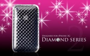 Купить Прозрачный силиконовый чехол Diamond для iPhone 3GS