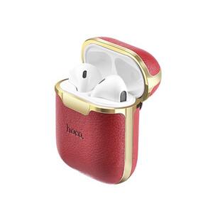 Купить Кожаный чехол Hoco WB11 Red для AirPods