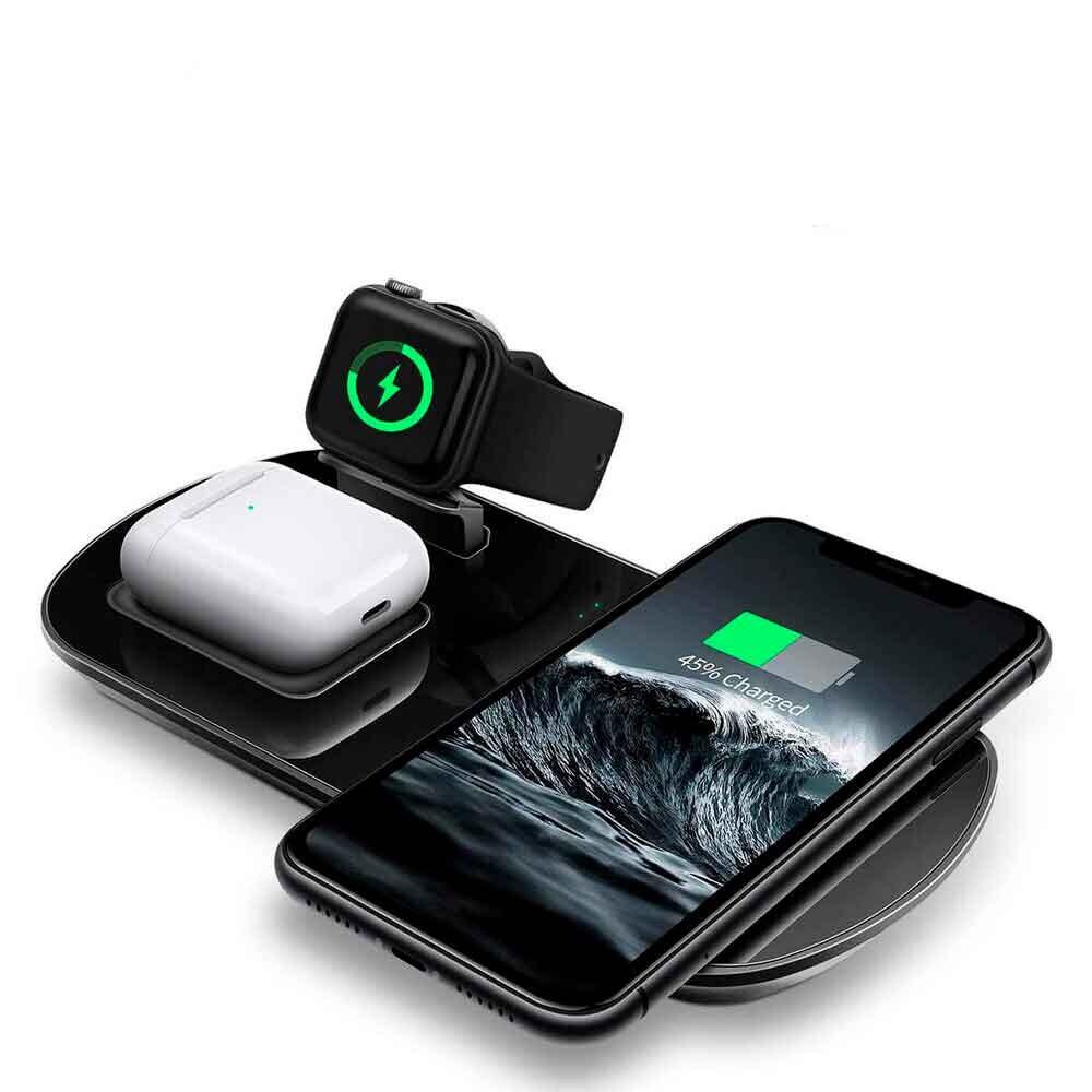 Беспроводное зарядное устройство iLoungeMax 3 в 1 Charging Dock для iPhone | Apple Watch | AirPods