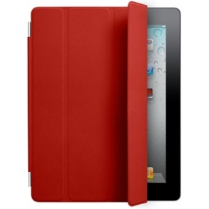 Кожаный чехол Apple Smart Cover Red для iPad 2