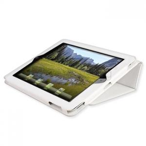 Белый кожаный чехол для iPad 2