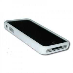 Белый силиконовый чехол для iPhone 4