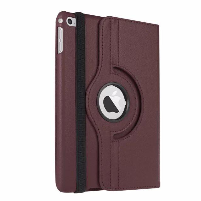 Кожаный чехол 360 Rotating для iPad mini 4 Коричневый