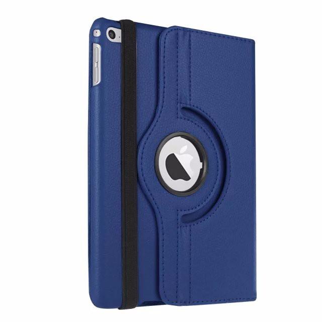 Кожаный чехол 360 Rotating для iPad mini 4 Синий