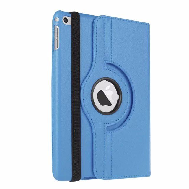 Кожаный чехол 360 Rotating для iPad mini 4 Голубой