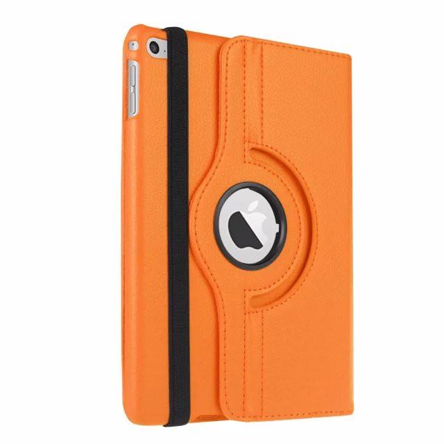 Кожаный чехол 360 Rotating для iPad mini 4 Оранжевый