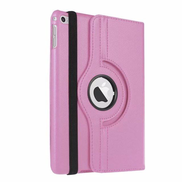 Кожаный чехол 360 Rotating для iPad mini 4 Светло-розовый