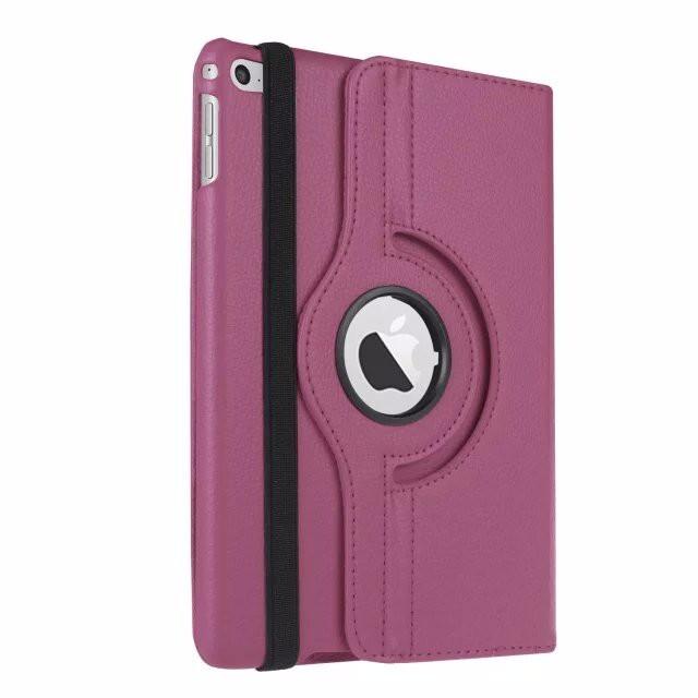 Кожаный чехол 360 Rotating для iPad mini 4 Фиолетовый