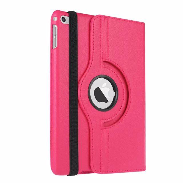 Кожаный чехол 360 Rotating для iPad mini 4 Розовый