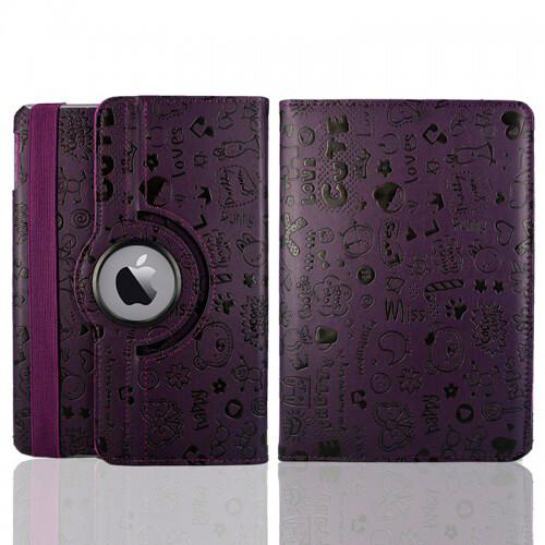 Фиолетовый чехол 360 Cute для iPad mini 4