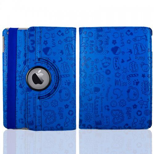 Синий чехол 360 Cute для iPad mini 4