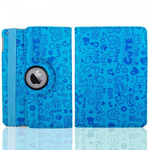Голубой чехол 360 Cute для iPad mini 4