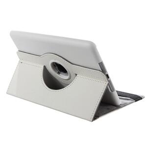 Кожаный чехол 360 Rotating для iPad mini 3/2/1 Белый