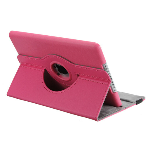 Кожаный чехол 360 Rotating для iPad mini 3/2/1 Розовый