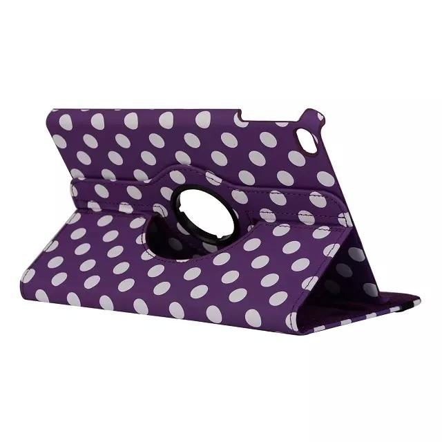 Чехол 360 Polka Dots Фиолетовый для iPad mini 4