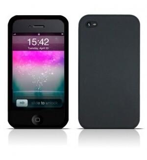 Силиконовый черный чехол Black Case для iPhone 4/4S