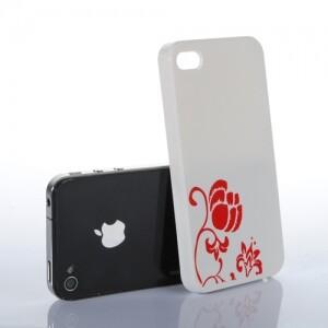 Белый чехол Flower для iPhone 4/4S