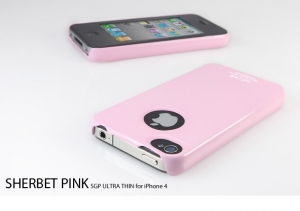 SGP Ultra Thin Case Sherbet Pink для iPhone 4/4S