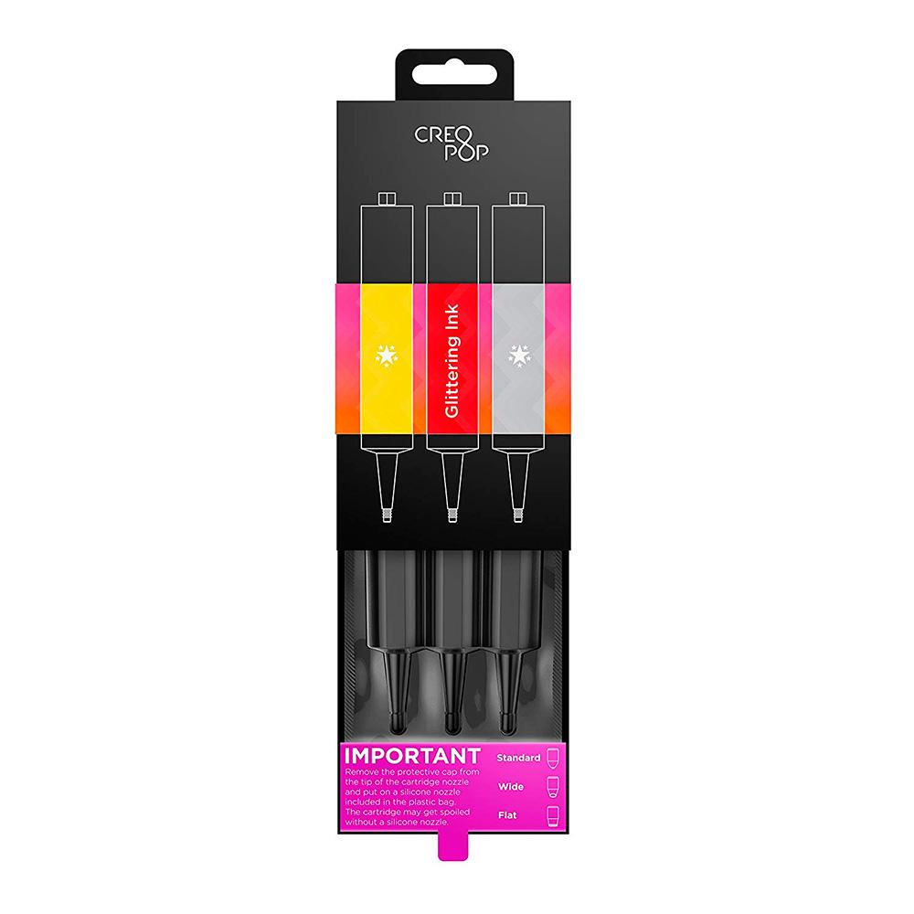 Купить Запасные холодные чернила для 3D-ручки CreoPop Starter Glittering Ink