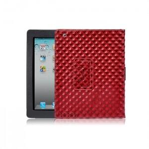 Красный кожаный чехол BRUNO для iPad 2