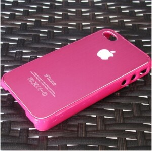 Чехол Aluminium Pink для iPhone 4/4S