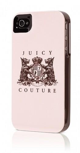 Чехол Juicy Couture New Crest Light Rose для iPhone 4/4S