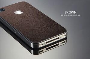 "SGP Кожаная накладка ""Skin Guard Brown"" для iPhone 4/4S"
