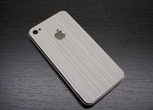 SGP Наклейка White Wood для iPhone 4/4S