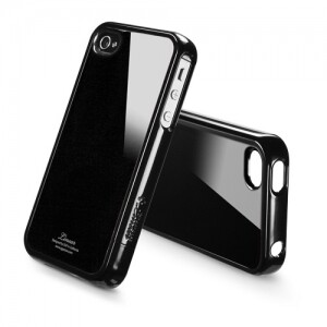 SGP Linear Color Series Deep Soul Black для iPhone 4/4S