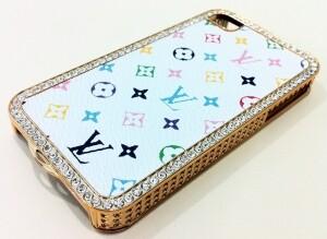 Louis Vuitton Swarovski Style для iPhone 4/4S
