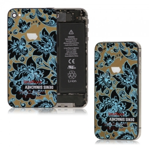 Denis Simachev Style Back Cover Blue Flower для iPhone 4S