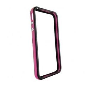 Купить Двухцветный бампер oneLounge Apple для iPhone 4/4S Фиолетовый/черный